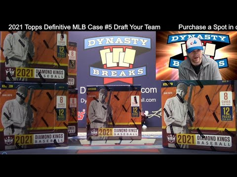 2021 Diamond Kings Baseball Card 6 Box Half Case Break #5   Sports Cards