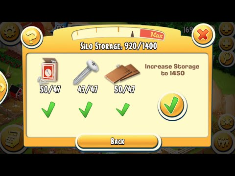 Update Silo Storage To 1450 in Hay Day Level 81 | Part 04 - Freedom Farm