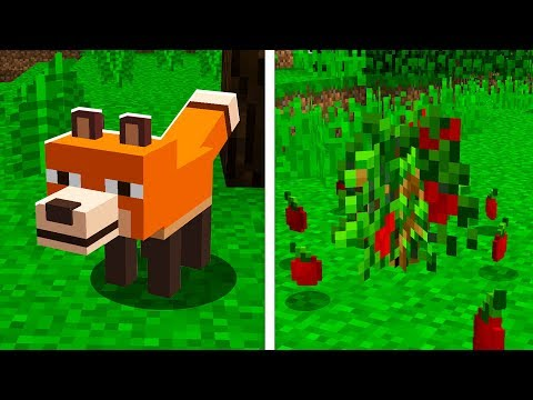 How NEW FOXES Will Work! (Minecraft 1.14 Snapshot Preview Update)