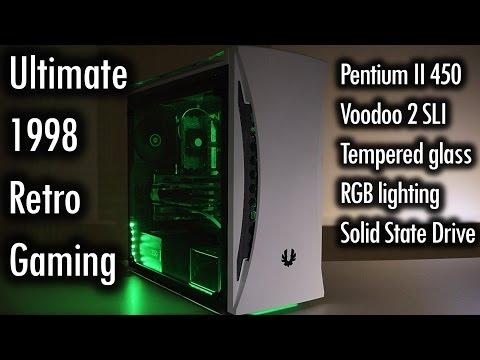 Pentium II 450 3dfx Voodoo 2 SLI with modern case, RGB lights and SSD