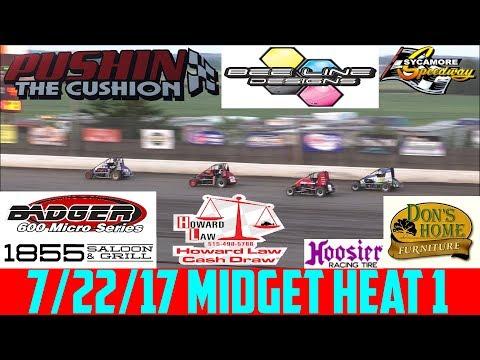 7/22/17 - Sycamore Speedway - Badger Midget - Heat 1