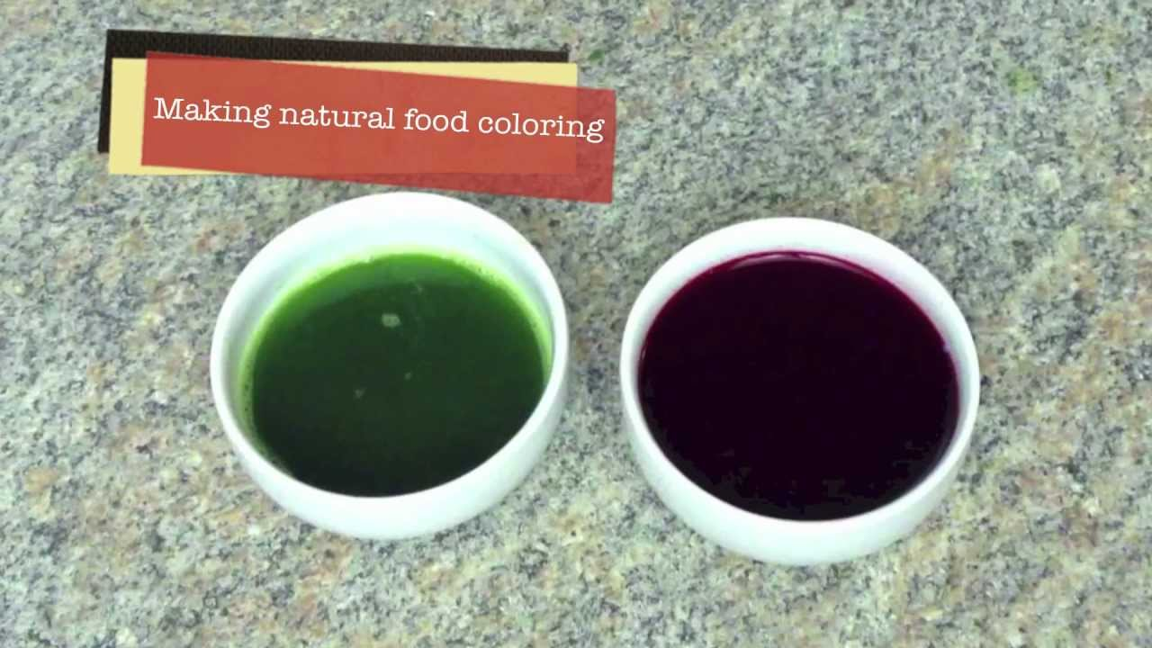 How to make natural food coloring - YouTube