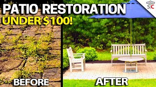 Patio Paver Restoration - DÏY Step by Step How to - Easy