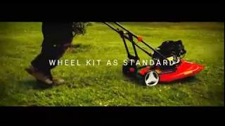 Cobra AirMow Petrol Hover Mower with Wheel Kit