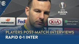 "RAPID 0-1 INTER | SAMIR HANDANOVIC INTERVIEW: ""Happy with the result"""