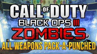 Black Ops 3 Zombies All Weapons Pack-a-Punched | Shadows of Evil and the Giant All Weapons Pap'd