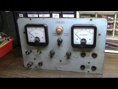 1950s Shandon Vokam 2541 High Voltage DC Power Supply Resurrection