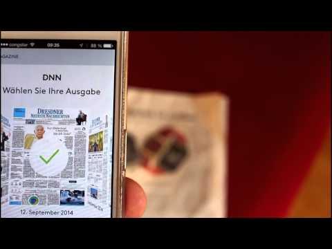 Augmented Reality in der Zeitung (DNN)