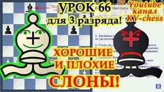 Хорошие и плохие слоны - Урок 66 для 3 разряда - Шахматы.
