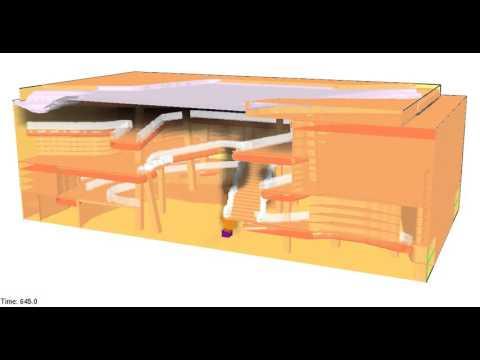 Atrium CFD Analysis Smoke Simulation-Dubai