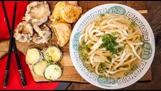 Udon Noodle Broth & Tempura Veg - SORTED Eats Japan