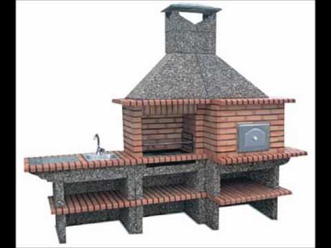 Brick barbecue with pizza oven and sink oven from portugal - Como hacer un horno de lena ...