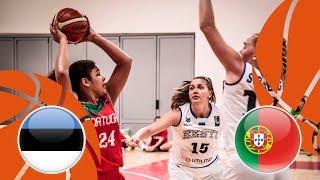Estonia v Portugal - Full Game - FIBA U16 Women's European Championship Division B 2018 thumbnail