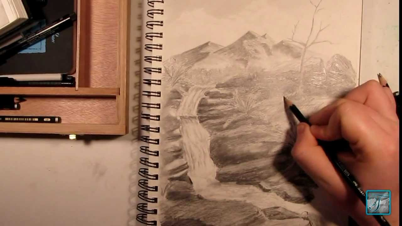 quick draw of waterfall - photo #25