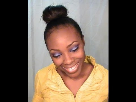 PROTECTIVE STYLE Messy High Bun On Relaxed Hair YouTube