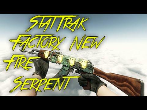 showcase huge s stattrak ak 47 fire serpent factory new youtube