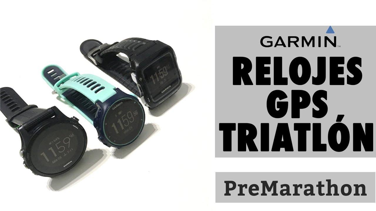 d4e448dfc230 Relojes gps Garmin Forerunner para triatlón y multideporte - YouTube