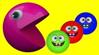 Super Pacman Lear Colors for Kids- Amazing Educational Video Colours for Kids to Learn