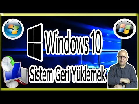 Windows 10 Sistem Geri Yüklemek? [Windows 10 System To Restore]