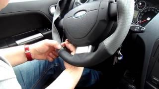 Кожаная оплетка на руль из натуральной кожи за 30 минут!