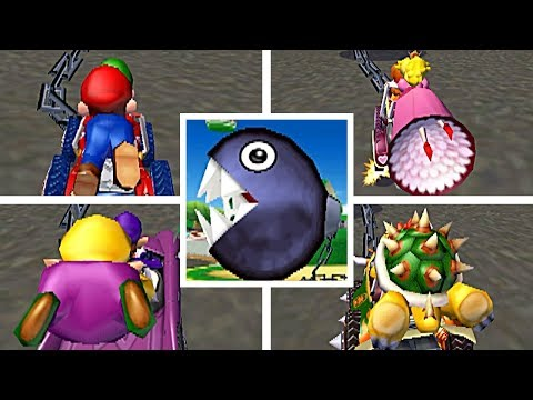 Every Character PULLED By The CHAIN CHOMP In Mario Kart Double Dash