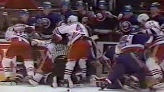 Islanders vs Rangers Post-Game Brawl Apr 5, 1990