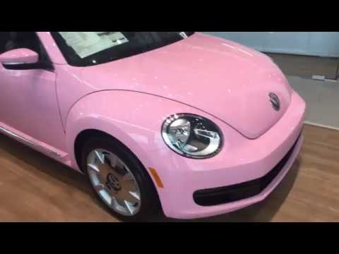 Pink Beetle Convertible at Hendrick Volkswagen Frisco