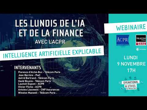 Intelligence artificielle explicable pour la finance - Les lundis de l'IA et de la finance #1