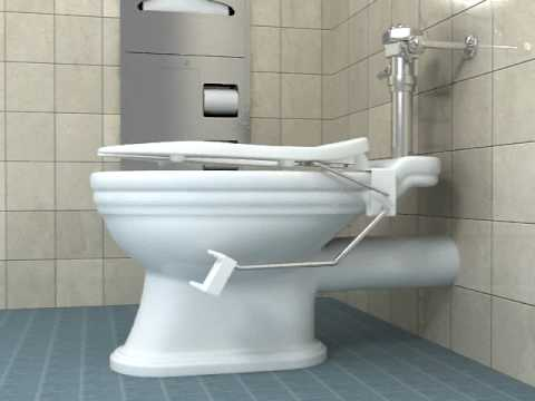 3d animation of Toilet seat lifter - YouTube