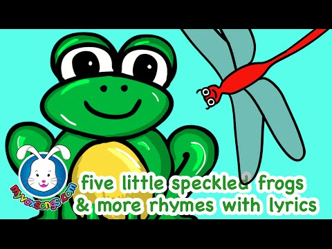 Five Little Speckled Frogs | Nursery Rhymes with Lyrics