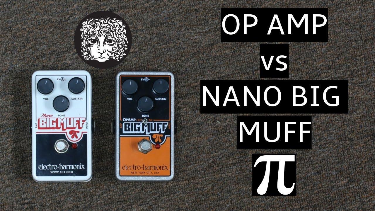 electro harmonix op amp big muff pi vs nano big muff pi comparison demo youtube. Black Bedroom Furniture Sets. Home Design Ideas