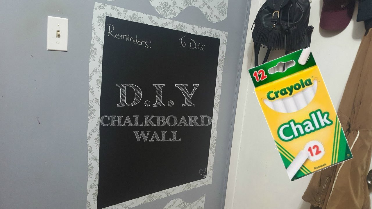 DIY Dope Room Decor Chalkboard Wall YouTube