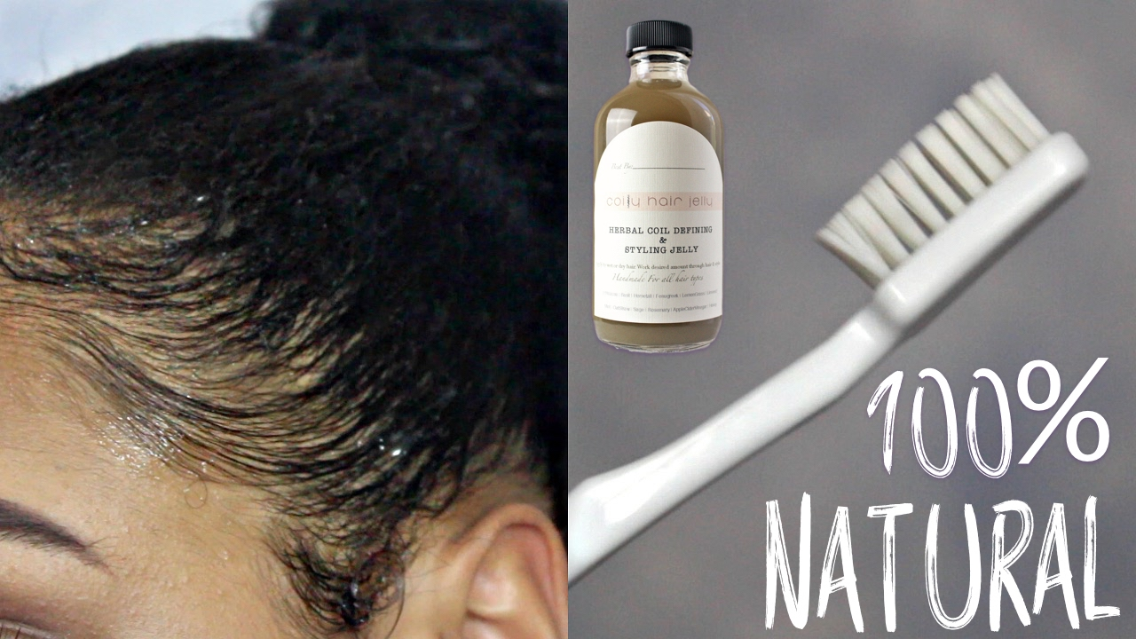 How To Do Your Baby Hair 100 Natural Jell Youtube