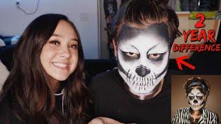 Recreating my own Halloween makeup look!