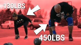 4X WSM DOES CROSSFIT | 450LB MAN LOSES TO 130LB WIFE?