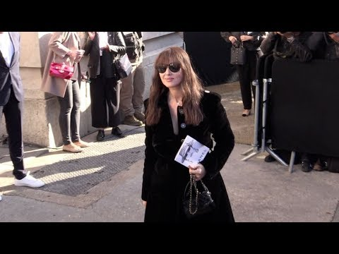 Monica Bellucci, Anouchka Delon and more arriving for the Chanel Ready to Wear Fashion Show