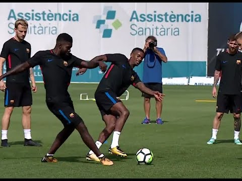 DEMBELE Humiliating SEMEDO in Training
