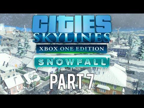 Cities Skylines Xbox One Edition Snowfall   Walkthrough Gameplay   Part 7   Snowy City