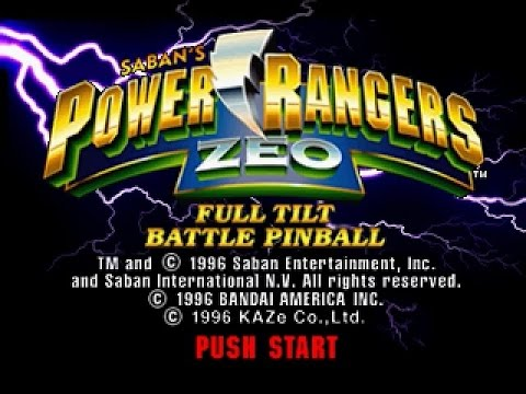 PSX Longplay [295] Power Rangers Zeo Pinball