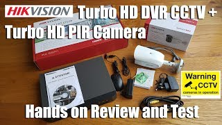 Hikvision Turbo HD PIR Camera + Turbo HD DVR CCTV [Hands on Review and Test]