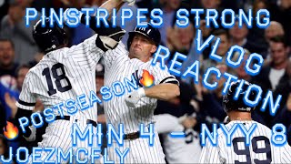 💥🔥YANKEES BEAT TWINS IN WILD CARD GAME. ELECTRIC ATMOSPHERE (AT THE GAME REACTION VLOG)💥🔥