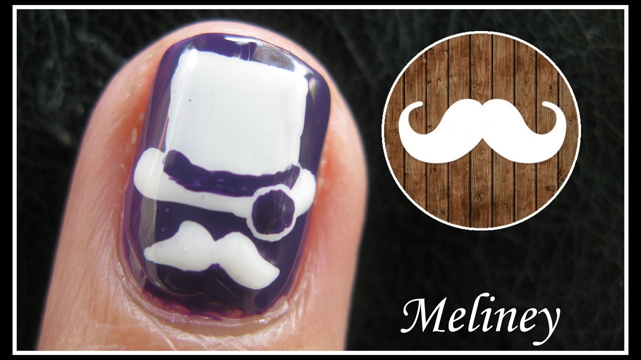 Tophatter movember nail art design nail tutorial freehand tophatter movember nail art design nail tutorial freehand mustache app mobile homemade character youtube prinsesfo Gallery
