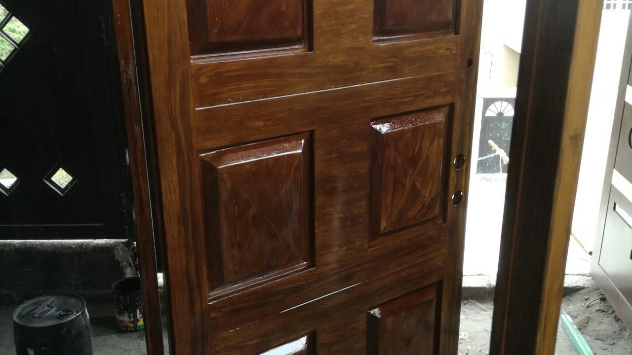 179 puerta de herrer a en presentaci n madera color for Puertas de madera con herreria