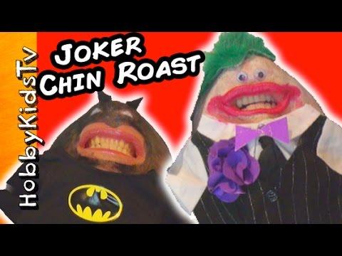 Chinterview Roast of Evil JOKER by Superheroes Batman, Hulk + Wonderwoman HobbyKidsTV
