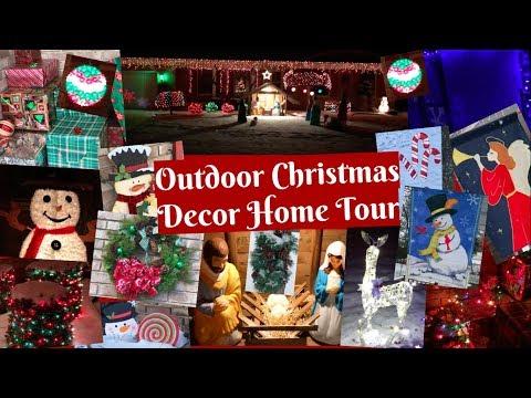Christmas Outdoor Decor Home Tour! 🎄🎁⛄️🎁🎄 2017