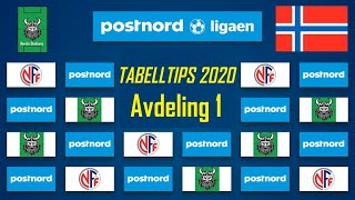 Tabelltips Og Analyse Av Postnord-ligaen 2020 Avdeling 1