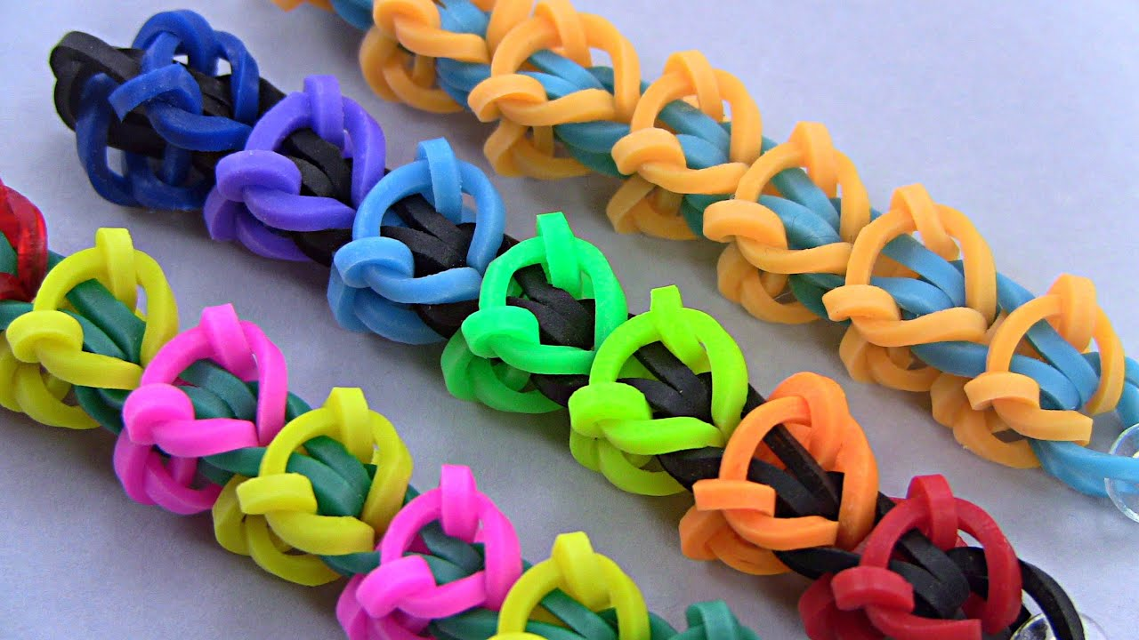 how to make beautiful bracelet with rubber bands youtube