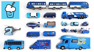 Learning Blue Color for kids with street vehicles tomica トミカ tayo 타요 꼬마버스 타요 중앙차고지 thumbnail