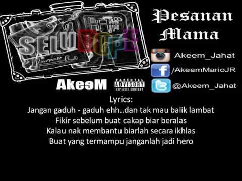Akeem - Pesanan Mama(Lyrics)