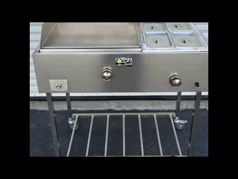 Taco Carts Stainless Steel Griddle Catering Equipment Grill